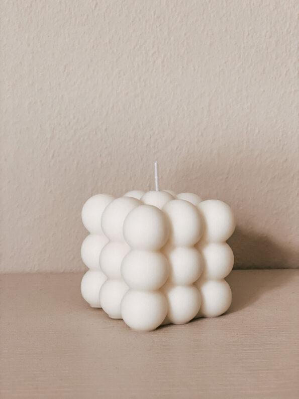 Bubble Cube Kerze 100% vegan, handmade